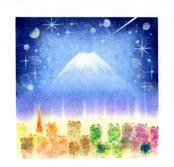 水の心旅~空~ パステル和アート ヒーリングハーツ熊本 スカイプ ズーム ZOOM