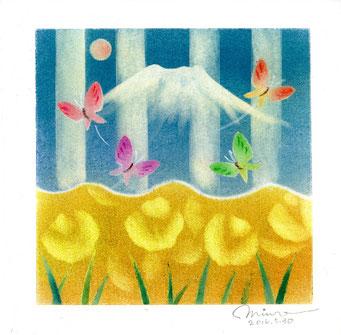 パステル和アート、花鳥風月