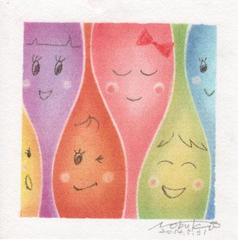 パステル和アート、みんな笑ってみんないい、熊本、スカイプ、ヒーリングハーツ