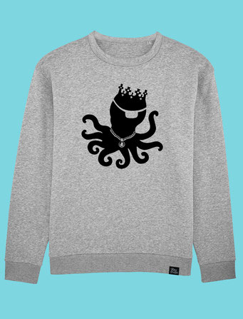 King Pulpo Silhouette - Mens Classic T-shirt -  Grey