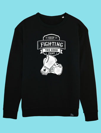 Keep Fighting - Men's/Unisex Sweatshirt - Black