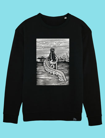 Pulpo Harbour - Men's/Unisex Sweatshirt - Black