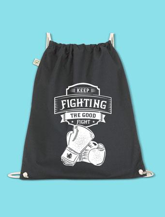 Keep Fighting - Drawstring Bag