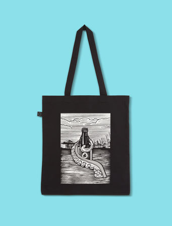 Pulpo Harbour - Classic Shopping Tote Bag