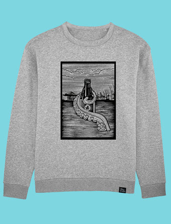 Pulpo Harbour - Men's/Unisex Sweatshirt - Grey