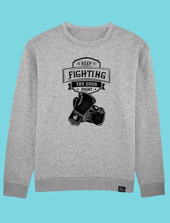 Keep Fighting - Men's/Unisex Sweatshirt - Grey