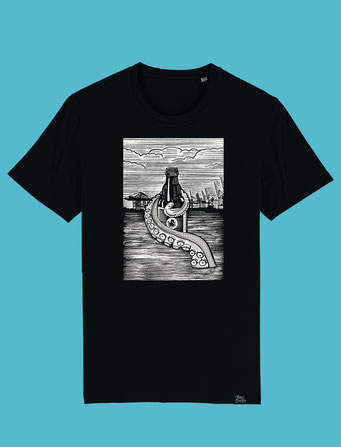 Pulpo Harbour -Mens Classic T-shirt  - Black