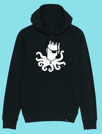 King Pulpo Silhouette - Men's hooded Sweatshirt - Black