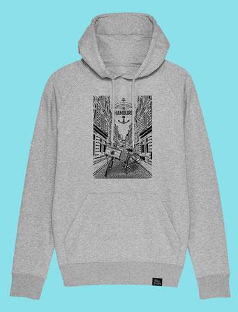 Beckstrasse- Men's hooded Sweatshirt
