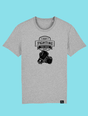 Keep Fighting - Men's classic T-shirt - Grey