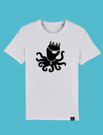 King Pulpo Silhouette - Mens Classic T-shirt -  White