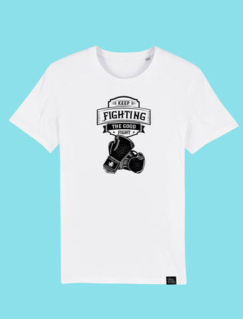Keep Fighting - Men's classic T-shirt - White