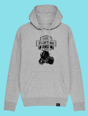 Keep Fighting - Men's hooded Sweatshirt - Grey