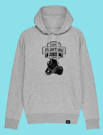 Keep Fighting - Men's hooded Sweatshirt - Grey
