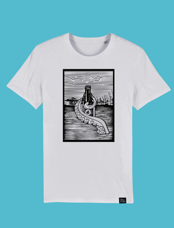 Pulpo Harbour -Mens Classic T-shirt - White
