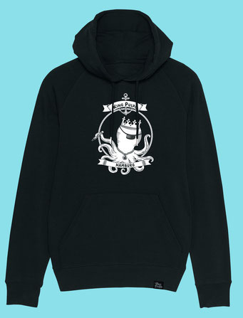 King Pulpo of Hamburg - Men's  hooded Sweatshirt - Black