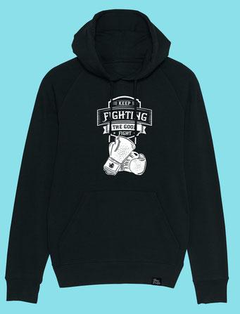 Keep Fighting - Men's hooded Sweatshirt - Black