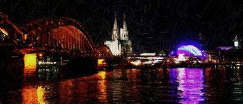 Köln bei Nacht Foto