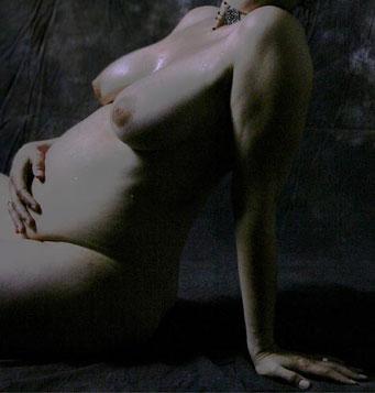 Schwangere Babybauch Foto