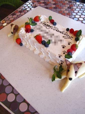 8名様分ケーキ チョコレート犬