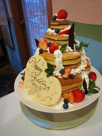 パンケーキ重ね