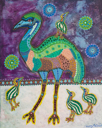 Danny Eastwood. Emu. Acrylic on Canvas. 40 x 50 cm. $500 SOLD