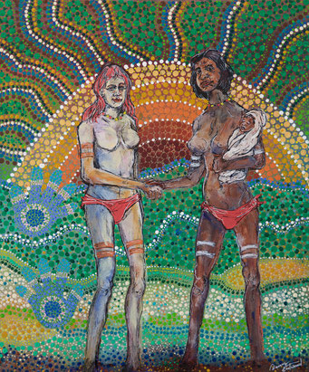 Danny Eastood. Reconciliation. Acrylic on Canvas. 50 x 60 cm. $600