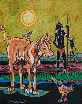 Danny Eastwood. Dingo. Acrylic on Canvas. 40 x 50 cm. $500