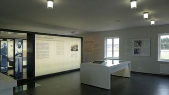 Foyer und Lagermodel mit Vertiefungsstation zum Aufbau des Stalag X B. Andreas Ehresmann, 30.4.2013