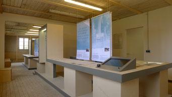 Ausstellungsteil zur Entwicklung der Gedenkstätte. Andreas Ehresmann, 30.4.2013