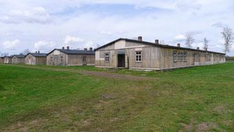 Ansicht der ehemaligen Unterkunftsbaracken. Foto: Andreas Ehresmann, 30.4.2013