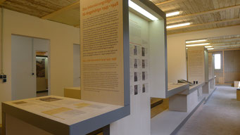 Ausstellungsteil zum britischen Internierungslager für SS-Angehörige. Andreas Ehresmann, 30.4.2013