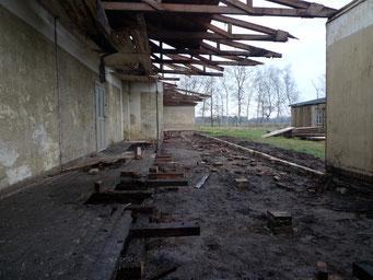 Ansicht nach Entfernung der abgängigen Bauteile. Foto: Andreas Ehresmann, 10.12.2008