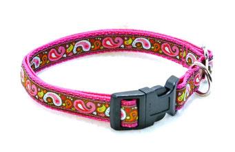 Hundehalsband Hund Halsband Gurtband Borte Webband Alu Steckschließe Handarbeit Pinterest Dawanda Handarbeit DIY Paisley