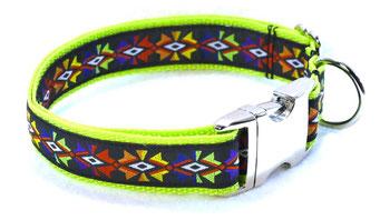 Hundehalsband Hund Halsband Gurtband Borte Webband Alu Steckschließe Handarbeit Pinterest Dawanda Handarbeit DIY Indio