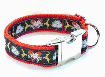 Hundehalsband Hund Halsband Gurtband Borte Webband Alu Steckschließe Handarbeit Pinterest Dawanda Handarbeit DIY Tracht