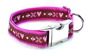 Hundehalsband Hund Halsband Gurtband Borte Webband Alu Steckschließe Handarbeit Pinterest Dawanda Handarbeit DIY herz Karo