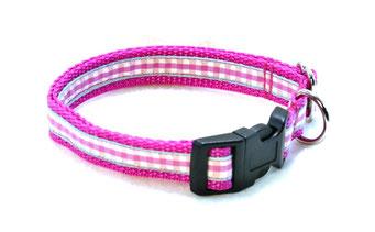 Hundehalsband Hund Halsband Gurtband Borte Webband Alu Steckschließe Handarbeit Pinterest Dawanda Handarbeit DIY Vichy Karo