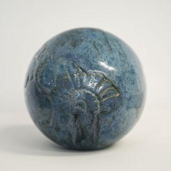 Gartenkugel aus Keramik
