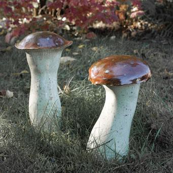 Pilze aus Keramik