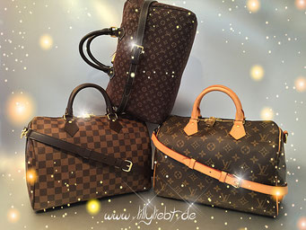 Louis Vuitton Damier Ebene Speedy Bandouliere 30, Louis Vuitton Monogram Idylle Speedy Bandouliere 30 in Fusain, Louis Vuitton Monogram Canvas Speedy Bandouliere 30