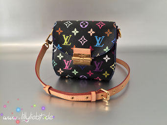 Louis Vuitton Monogram Multicolore Heartbreaker in Schwarz