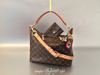 Louis Vuitton Monogram Canvas Sully PM, Louis Vuitton Monogram Canvas Anais, Louis Vuitton VVN Schulterriemen, Louis Vuitton Insolence Taschenschmuck in Amarante
