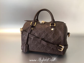 Louis Vuitton Monogram Empreinte Speedy Bandouliere 25 in Terre