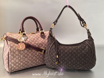 Louis Vuitton Monogram Idylle Speedy Bandouliere 30 in Sepia, Louis Vuitton Monogram Mini Lin Manon PM in Ebene, Louis Vuitton LV Circle Taschenschmuck