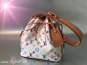 Louis Vuitton Monogram Multicolore Petit Noe in Weiß