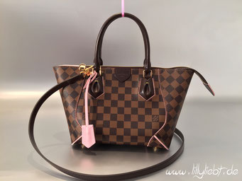Louis Vuitton Damier Ebene Caissa Tote PM in Rose Ballerine