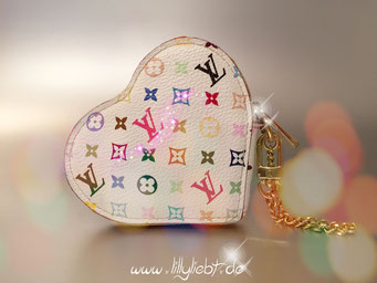 Louis Vuitton Monogram Multicolore Coeur Portemonnaie in Weiß