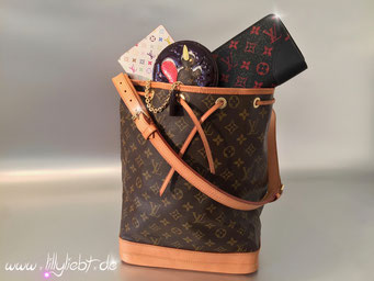 Louis Vuitton Monogram Canvas Noe, Louis Vuitton Monogram Multicolore Agenda in Weiß, Louis Vuitton Monogram Vernis Animania Coin Purse Ecureil in Amarante, Louis Vuitton Monogram Infrarouge Zippy
