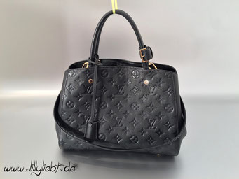Louis Vuitton Monogram Empreinte Montaigne MM in Schwarz